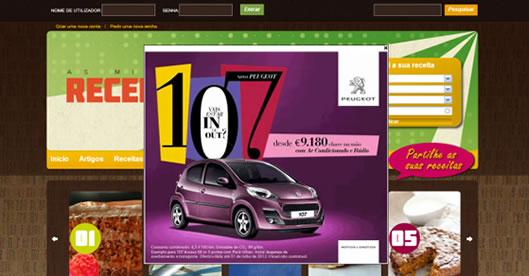 Campanha do Peugeot 107 através da BloomPink