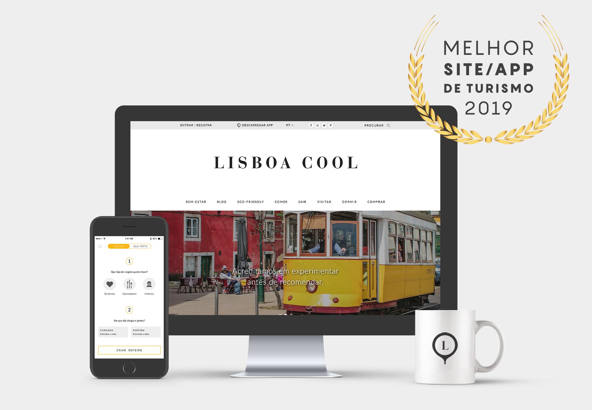 Site e app Lisboa Cool