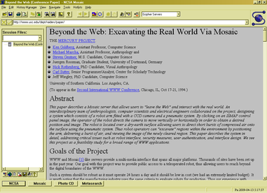O browser NCSA Mosaic 3.0 for Windows, 1993