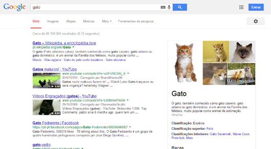 Reconhecimento de entidades no Google
